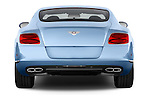 Straight rear view of a 2014 Bentley Continental GT V8 Coupe 2 Door Coupe Rear View  stock images