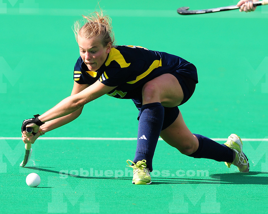 The University of Michigan field hockey team beat Miami (Ohio), 3-0, in the final regular season game at Ocker Field in Ann Arbor, Mich., on October 21, 2012.