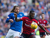 9th September 2017, Ibrox Park, Glasgow, Scotland; Scottish Premier League football, Rangers versus Dundee; Dundee's Roarie Deacon and Rangers' Niko Kranjcar