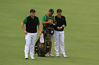 Sungjae Im and Cameron Smith (International) on the 4th fairway during the Second Round - Foursomes of the Presidents Cup 2019, Royal Melbourne Golf Club, Melbourne, Victoria, Australia. 13/12/2019.<br /> Picture Thos Caffrey / Golffile.ie<br /> <br /> All photo usage must carry mandatory copyright credit (© Golffile | Thos Caffrey)