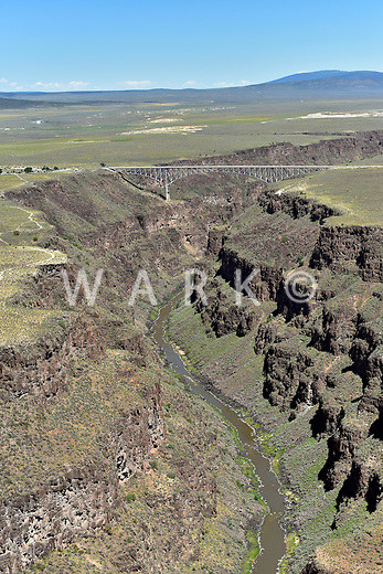 Rio Grande Gorge west of Taos, New Mexico. Aug 2014. 812605