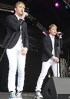 Jedward at Guilfest 2014 on the 19th July 2014