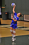 28 October 2012: Yeshiva University Maccabee Makena Owens, a Freshman from Sammamish, WA, in action against the Old Westbury Panthers at SUNY Old Westbury in Old Westbury, NY. The Panthers defeated the Maccabees 3-0 in NCAA women's volleyball play. Mandatory Credit: Ed Wolfstein Photo
