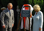 prince of wales and duchess of cornwall at john miltons cottage chalfont st peter buckinghamshire to help celebrate  the 400th aniversay of the birth of the poet john milton