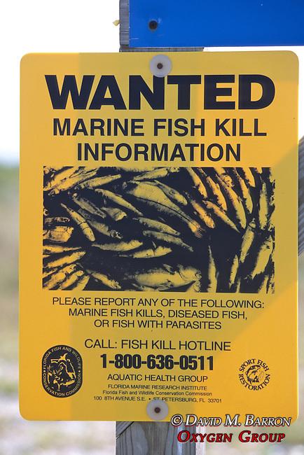 Marine Fish Kill Sign