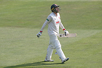 Aaron Beard of Essex leaves the field having been dismissed for 41 during Essex CCC vs Yorkshire CCC, Specsavers County Championship Division 1 Cricket at The Cloudfm County Ground on 8th July 2019