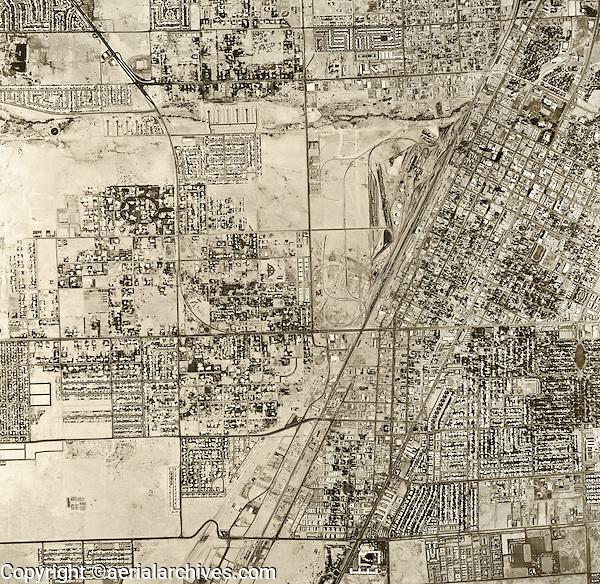 historical aerial photograph Las Vegas, Nevada, 1965