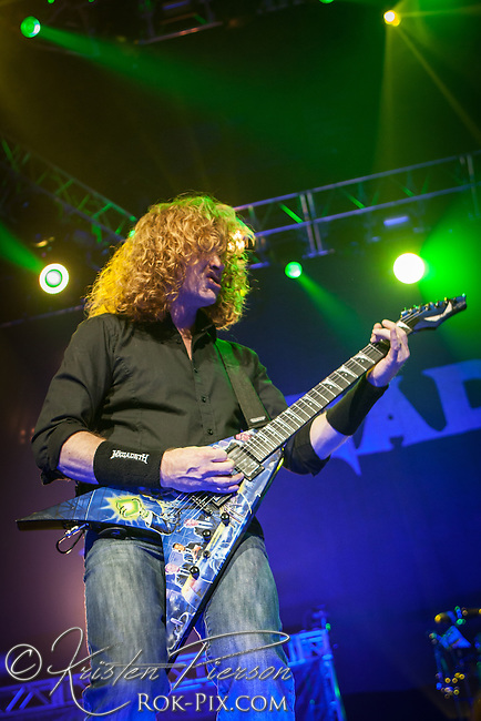 Megadeth perform at Mohegan Sun Arena for the Gigantour 2012 Tour on January 27, 2012