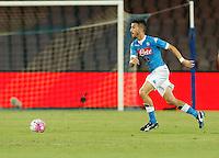 Mirko Valdifiori   durante l'incontro di calcio di Serie A   Napoli -Sampdoria allo  Stadio San Paolo  di Napoli , 30 Agosto 2015