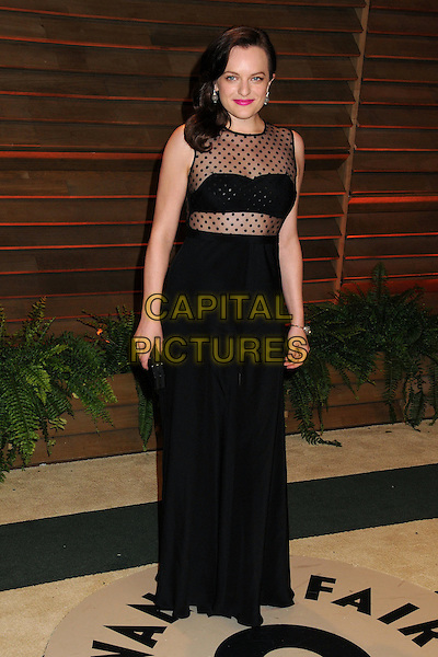 02 March 2014 - West Hollywood, California - Elisabeth Moss. 2014 Vanity Fair Oscar Party following the 86th Academy Awards held at Sunset Plaza.  <br /> CAP/ADM/BP<br /> &copy;Byron Purvis/AdMedia/Capital Pictures