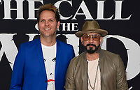 "13 February 2020 - Hollywood, California -  AJ McLean and Mark Adler. ""The Call of the Wild"" Twentieth Century Studios World Premiere held at El Capitan Theater. Photo Credit: Dave Safley/AdMedia"