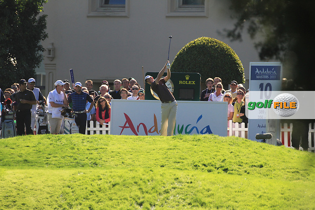 Justin Rose (ENG) during the 2nd day at the  Andalucía Masters at Club de Golf Valderrama, Sotogrande, Spain. .Picture Fran Caffrey www.golffile.ie