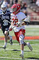 College Park, MD - April 8, 2017: Maryland Terrapins Matt Neufeldt (28) runs with the ball during game between Penn State and Maryland at  Capital One Field at Maryland Stadium in College Park, MD.  (Photo by Elliott Brown/Media Images International)