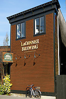 La Conner Brewing company building in La Conner, Washington state, USA
