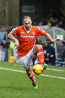 Jake Howells of Luton Town during the Sky Bet League 2 match between Wycombe Wanderers and Luton Town at Adams Park, High Wycombe, England on 6 February 2016. Photo by David Horn.