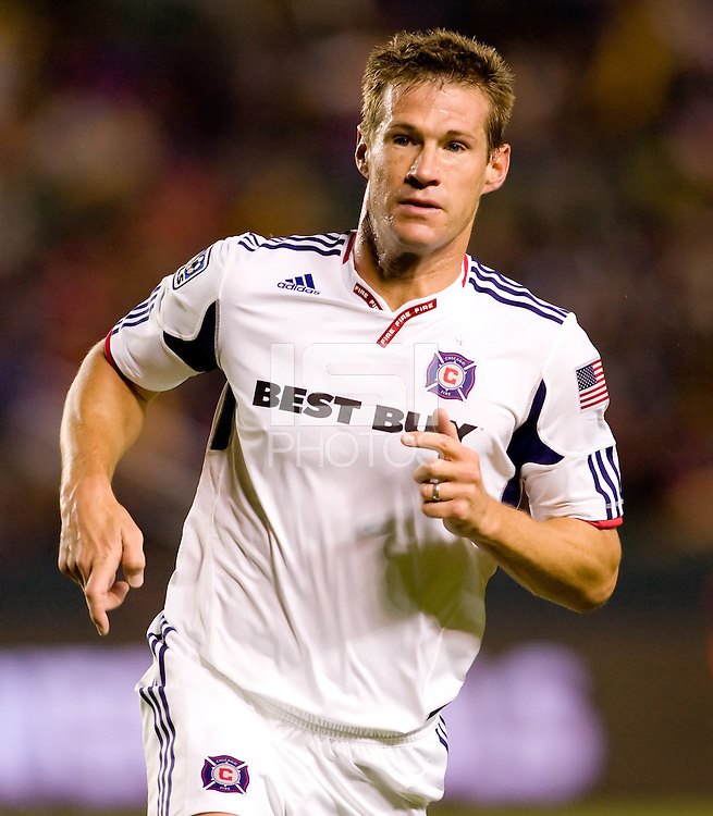 Brian McBride Captain and forward of the Chicago Fire during McBrides last game of his career. The Chicago Fire defeated CD Chivas USA 3-1 at Home Depot Center stadium in Carson, California on Saturday October 23, 2010.