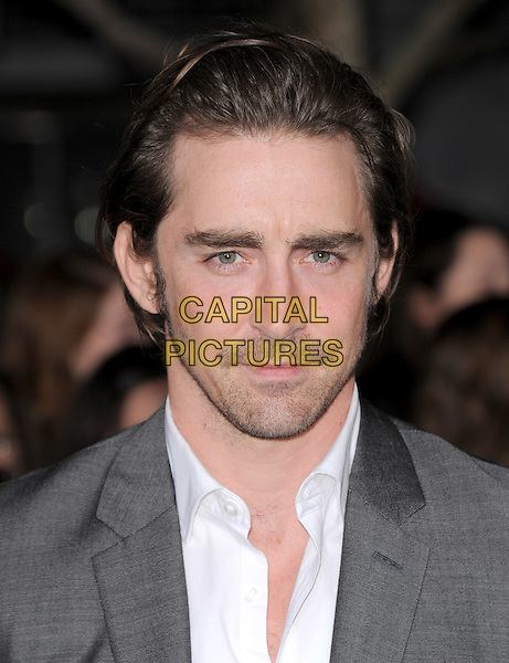 Lee Pace.The Los Angeles premiere of 'The Twilight Saga Breaking Dawn Part 1' at Nokia Theatre at L.A. Live in Los Angeles, California, USA..November 14th, 2011.headshot portrait grey gray white stubble facia hair .CAP/RKE/DVS.©DVS/RockinExposures/Capital Pictures.