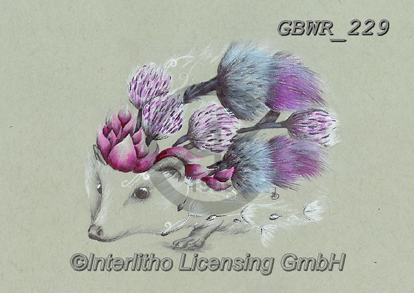 Simon, REALISTIC ANIMALS, REALISTISCHE TIERE, ANIMALES REALISTICOS, innovative, paintings+++++A_KatB_RusticHedgehog,GBWR229,#a#, EVERYDAY