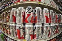 Cans of Diet Coke on a supermarket store shelf in New York on Thursday, August 29, 2013. (© Richard B. Levine)