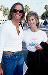 Peter and Jane Fonda in 1986 inLos Angeles, California.