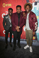 03 January 2018 - Los Angeles, California - Bernard David Jones, Marcel Spears, Brandon Michael Hall. Showtime's &quot;The Chi&quot; Los Angeles Premiere held at Downtown Independent.     <br /> CAP/ADM/FS<br /> &copy;FS/ADM/Capital Pictures