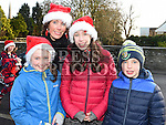 Kate McDevitt, Aine, Ben and Eimear Marron who took part in the Termonfeckin Celtic FC Santa run. Photo:Colin Bell/pressphotos.ie