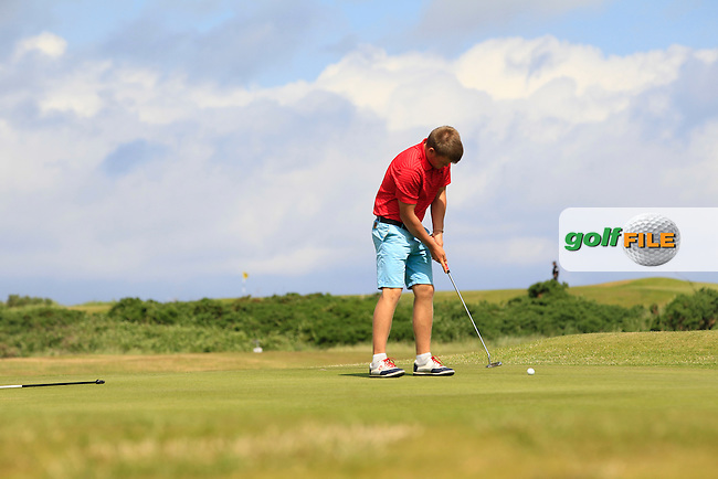 James Cronin (Woodbrook) on the 3rd green during Round 1 of the Ulster Boys Championship at Castlerock Golf Club on Tuesday 30th June 2015.<br /> Picture:  Golffile | Thos Caffrey