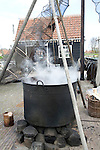 Tanning demonstration, Zuiderzee museum, Enkhuizen, Netherlands