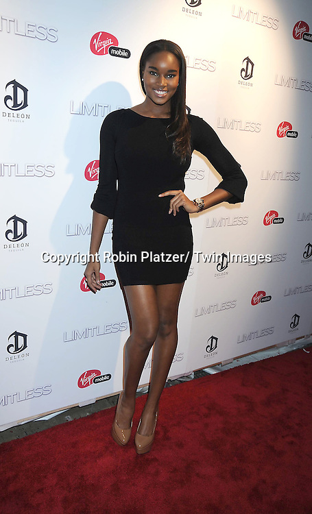 "Damaris Lewis attending The World Premiere of ""Limitless"" .starring Robert De Niro, Bradley Cooper and Abbie Cornish on March 8, 2011 at the .Regal Union Square 14 Theatre in New York City. The premiere was presented  by DELEON Tequila."