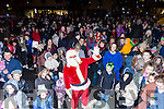 James O'Donoghue and Santa  switch on christmas lights in Castleisland on Saturday