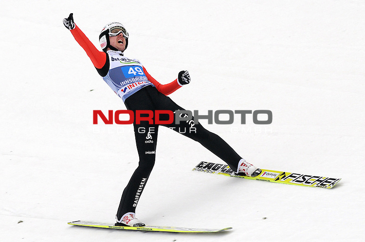 Innsbruck, Austria 04.01.2014 <br /> 2013-14 Vierschanzentournee, <br /> FIS Ski Jumping World Cup <br /> Simon Amman of Switzerland in action during the FIS Ski Jumping World Cup Vierschanzentournee on January 4, 2014 in Innsbruck, Austria.<br /> Foto &copy; nph / Pier Paolo Piciucco