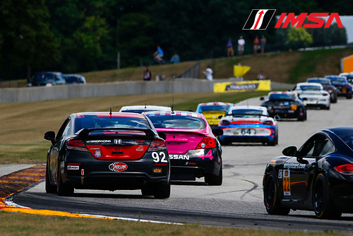 5-6 August 2016, Elkhart Lake, Wisconsin USA<br /> 92, Honda, Civic Si, ST, Cameron Lawrence, Steve Eich<br /> &copy;2016, Jake Galstad<br /> LAT Photo USA