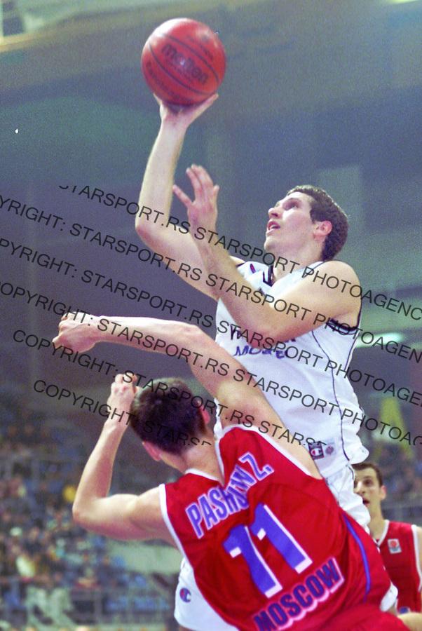 Kosarka.Partizan Vs. CSKA (Moscow), Euroleague.Dusan Kecman.Beograd, 2003.foto: Srdjan Stevanovic ©