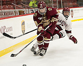 Makenna Newkirk (BC - 19), Briana Mastel (Harvard - 17) - The visiting Boston College Eagles defeated the Harvard University Crimson 2-0 on Tuesday, January 19, 2016, at Bright-Landry Hockey Center in Boston, Massachusetts.