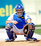 13 March 2007: Los Angeles Dodgers catcher Kelly Stinnett warms up prior to facing the Detroit Tigers in a spring training game at Holman Stadium in Vero Beach, Florida.<br /> <br /> Mandatory Photo Credit: Ed Wolfstein Photo