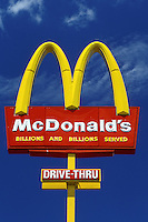 McDonald's, sign, fast food restaurant, Cambridge, Ohio, OH