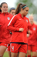 Boyds, MD - Saturday May 6, 2017: Shelina Zadorsky prior to a regular season National Women's Soccer League (NWSL) match between the Washington Spirit and Sky Blue FC at Maureen Hendricks Field, Maryland SoccerPlex.