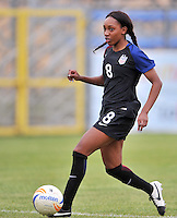 Monfalcone, Italy, April 26, 2016.<br /> USA's #8 Jarret runs with the ball during USA v Iran football match at Gradisca Tournament of Nations (women's tournament). Monfalcone's stadium.<br /> &copy; ph Simone Ferraro / Isiphotos
