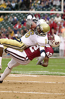 Ruben Carter makes a tackle during Stanford's loss to Georgia Tech in the Seattle Bowl on December 27, 2001 in Seattle, WA.<br />Photo credit mandatory: Gonzalesphoto.com