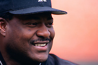 SAN FRANCISCO, CA - Manager Don Baylor of the Colorado Rockies smiles during batting practice before a game against the San Francisco Giants at Candlestick Park in San Francisco, California in 1997.  Photo by Brad Mangin