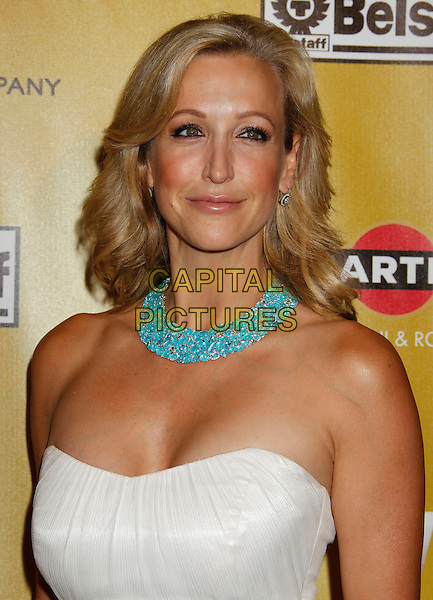 LARA SPENCER.Weinstein Company Post Golden Globe Party held at Bar210 & Plush Ultra Lounge at the Beverly Hilton Hotel, Beverly Hills, California, USA..January 17th, 2009.globes headshot portrait white strapless blue turquoise necklace .CAP/ADM/MJ.©Michael Jade/Admedia/Capital Pictures