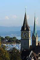 Fraumünster und St.Peter, Zürich, Schweiz
