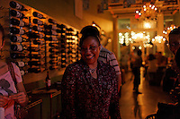 Mediterranean Bistro, wine and beer loft called bin no. 18 was started by Alfredo Patino and is lively on a Thursday night. Alfredo puts together meats and cheeses on a board for a special dish.  Many cultures come and find this as their favorite local restaurant. Chandeliers, mirrors and long tables create a warm yet trendy atmosphere..1800 Biscayne Blvd.Ste 107.Miami, FL 33132.(786) 235-7575