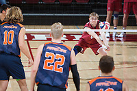 STANFORD, CA - March 3, 2018: Leo Henken at Maples Pavilion. The Stanford Cardinal lost to Pepperdine, 3-0.