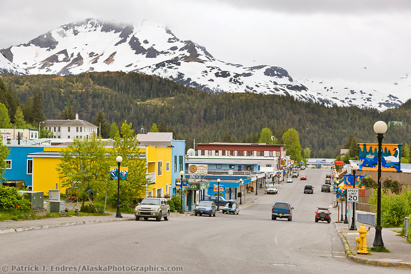 Downtown coastal community of Cordova, southcentral, Alaska.