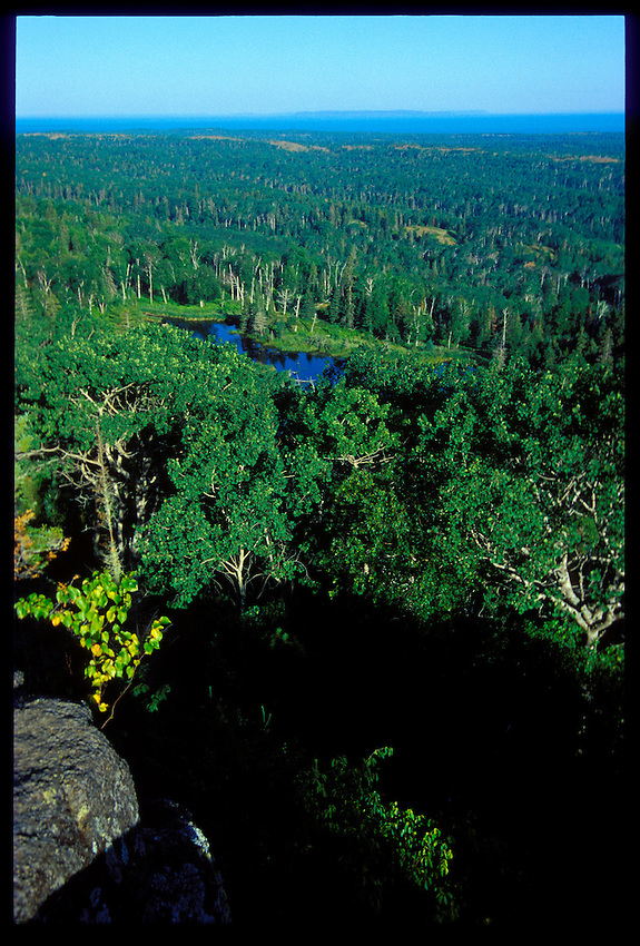 VIEW OF ISLE ROYALE NATIONAL PARK FROM ATOP MOUNT FRANKLIN.