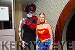 Zombie and Wonder woman at the Tralee Rugby Club Halloween Fancy Dress Party at Benner's Hotel  Castle Street on Sunday