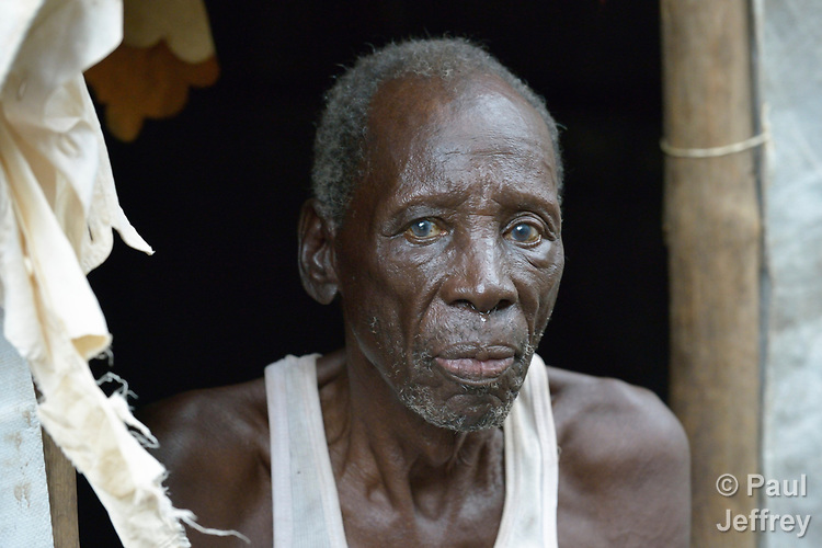 A man in a camp for more than 12,000 internally displaced persons located on the grounds of the Roman Catholic Cathedral of St. Mary in Wau, South Sudan. Most of the families here were displaced in June, 2016, when armed conflict engulfed Wau.<br /> <br /> Norwegian Church Aid, a member of the ACT Alliance, has provided relief supplies to the displaced in Wau, and has supported the South Sudan Council of Churches as it has struggled to mediate the conflict in Wau.