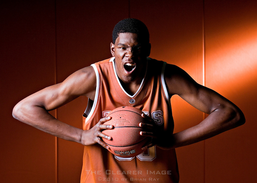 University of Texas freshman Kevin Durant (CQ) is photographed at the Longhorns practice facility in Austin, Texas on Wednesday, October 11, 2006. Durant, the number two high school recruit in the nation, is expected to declare for the NBA draft after the upcoming basketball season.