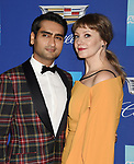 PALM SPRINGS, CA - JANUARY 02: Actor Kumail Nanjiani (L) and writer/producer Emily V. Gordon arrive at the 29th Annual Palm Springs International Film Festival Film Awards Gala at Palm Springs Convention Center on January 2, 2018 in Palm Springs, California.